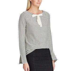 NWOT Chaps Stripes Wide Sleeve Sweatshirt Top